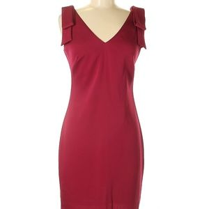 Nicole Miller Solid Burgundy Casual Dress Size 2